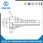 Hydraulic Metric Female 60°Cone Fitting 20611